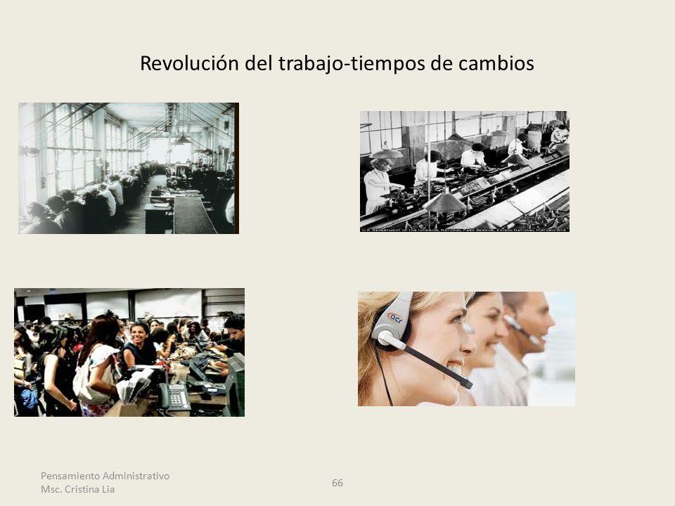 Revolución del trabajo-tiempos de cambios