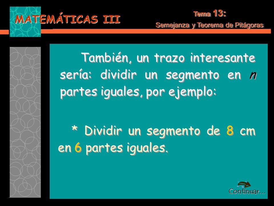 Semejanza y Teorema de Pitágoras