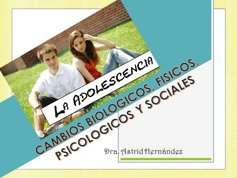 CAMBIOS BIOLOGICOS, FISICOS, PSICOLOGICOS Y SOCIALES