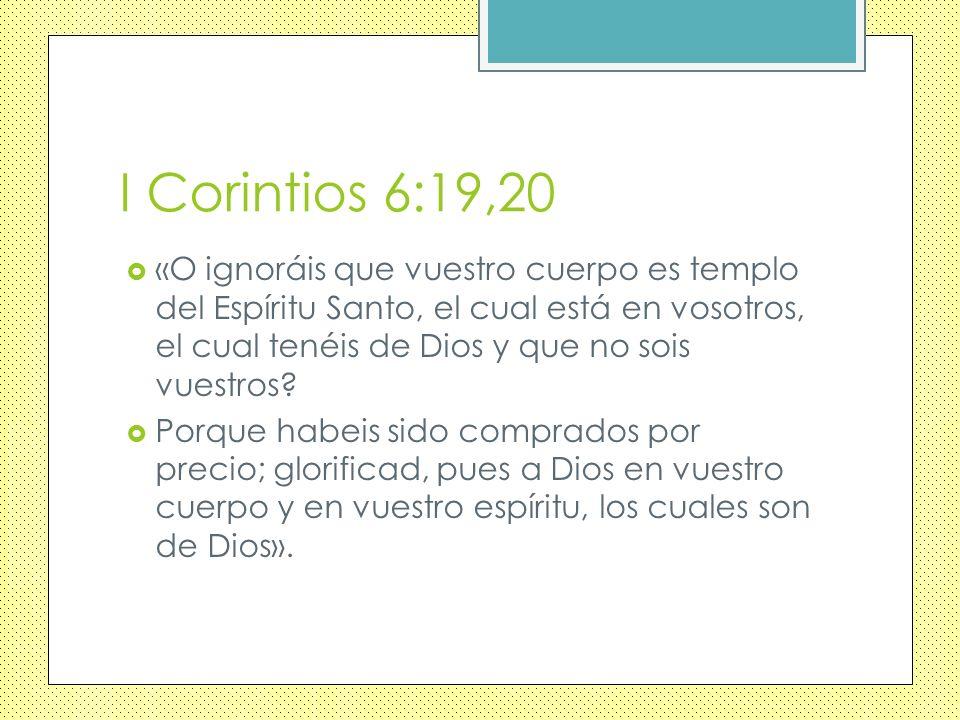 I Corintios 6:19,20