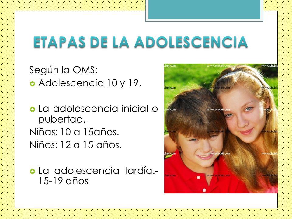 ETAPAS DE LA ADOLESCENCIA