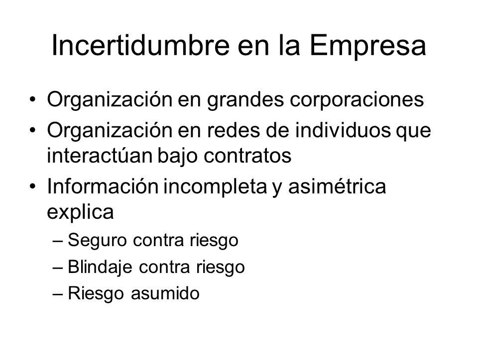 Incertidumbre en la Empresa