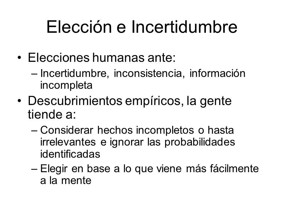 Elección e Incertidumbre