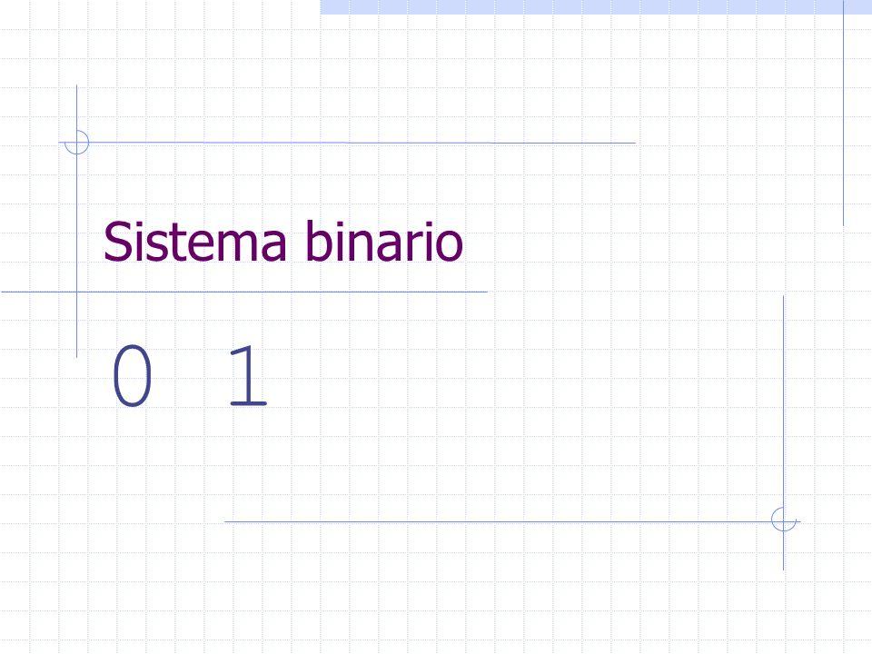 Sistema binario 0 1