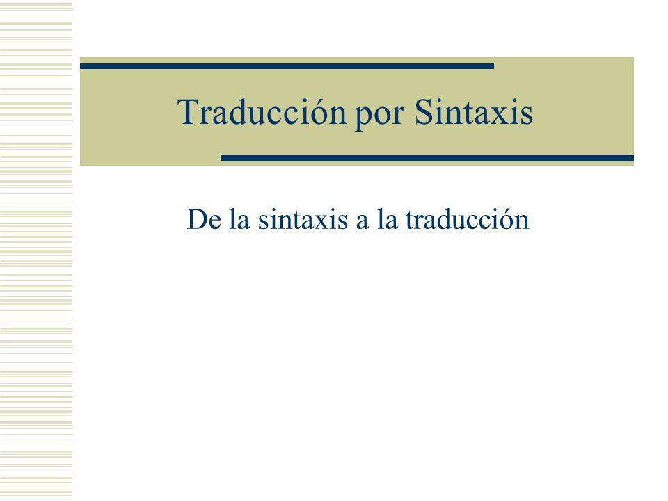 Traducción por Sintaxis