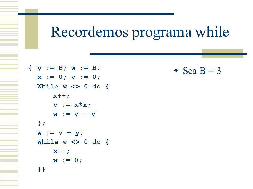Recordemos programa while