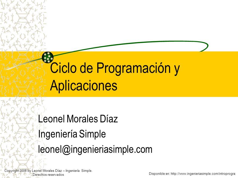 Ciclo de Programación y Aplicaciones