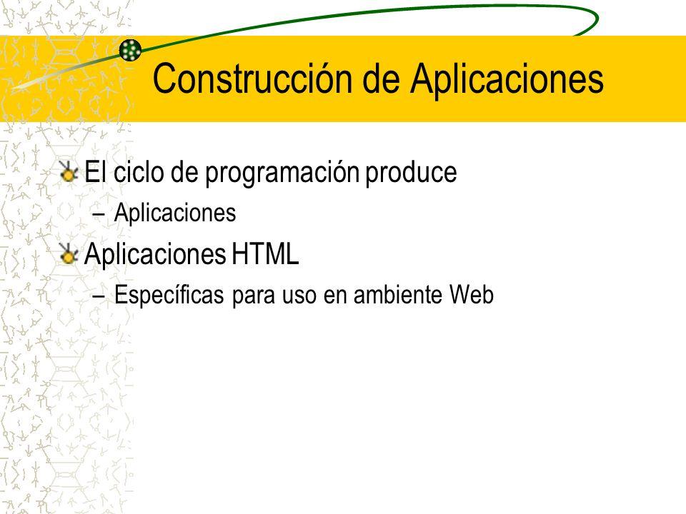 Construcción de Aplicaciones