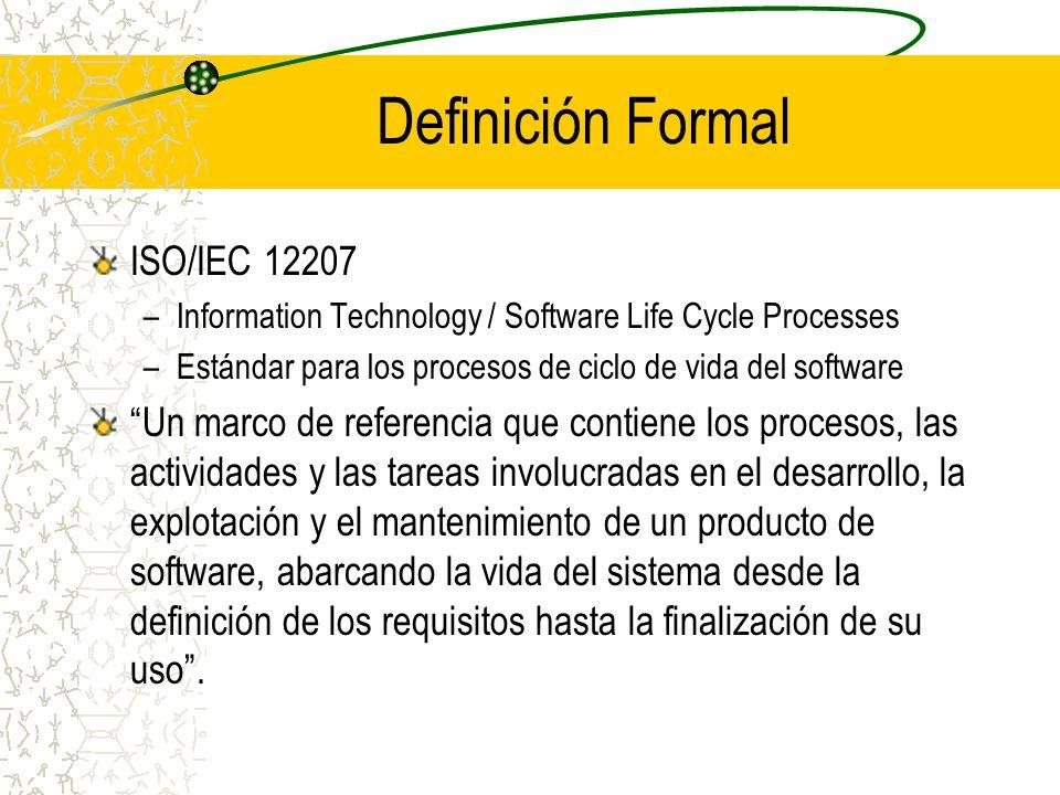 Definición Formal ISO/IEC 12207