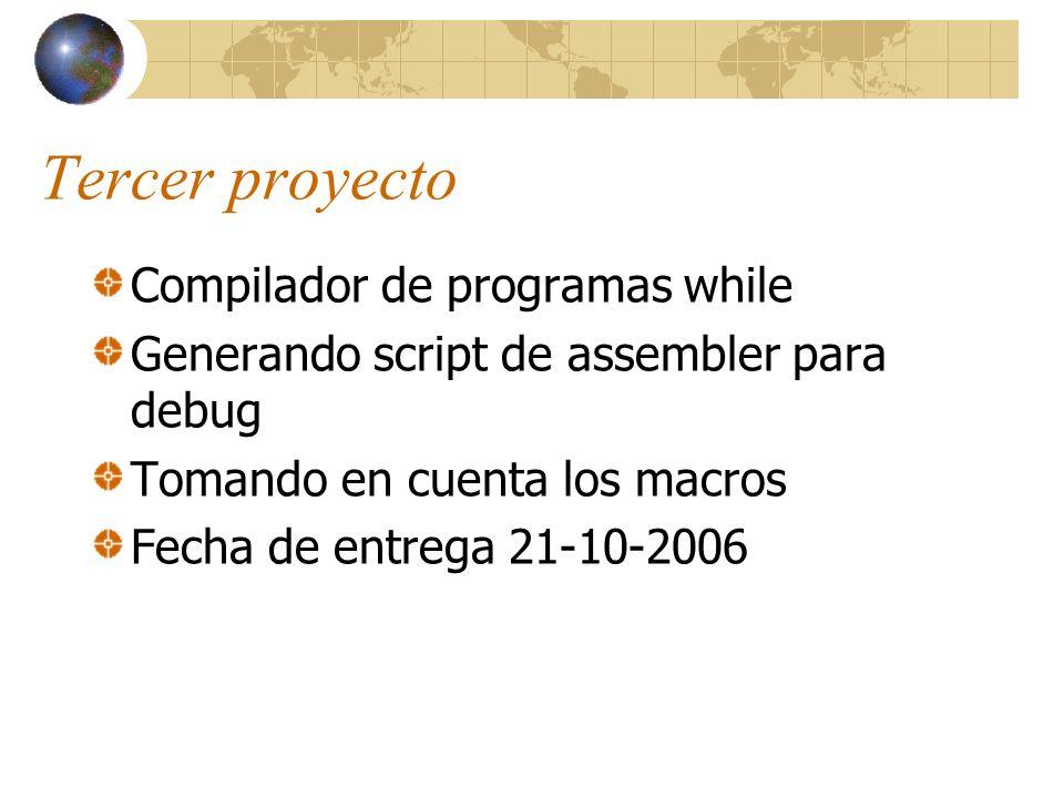 Tercer proyecto Compilador de programas while