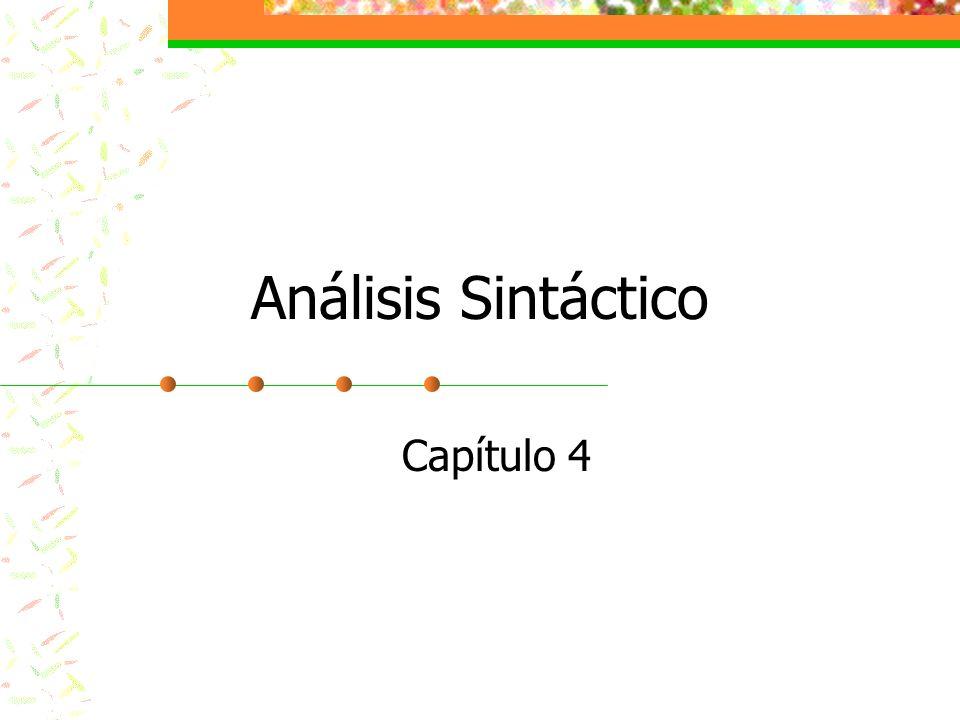 Análisis Sintáctico Capítulo 4