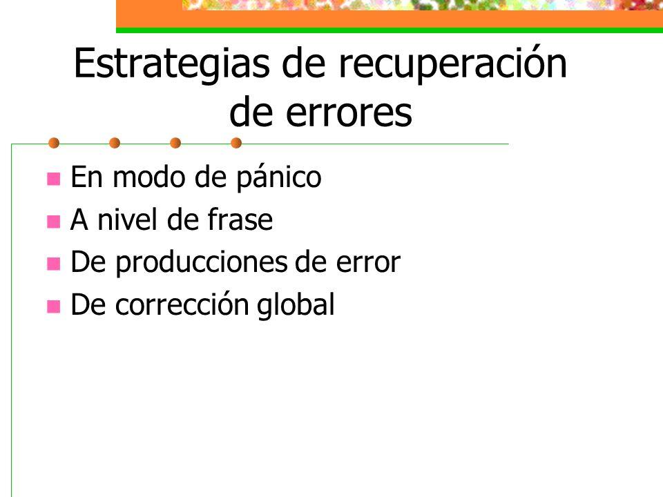 Estrategias de recuperación de errores