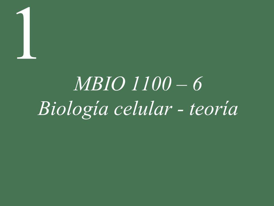 MBIO 1100 – 6 Biología celular - teoría
