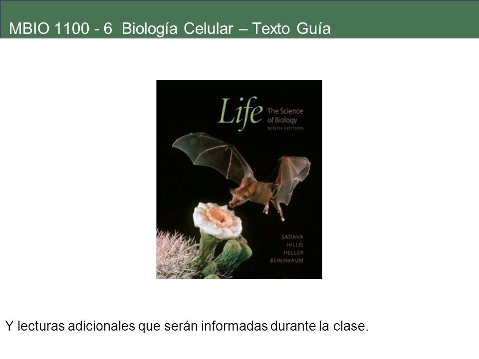 MBIO 1100 - 6 Biología Celular – Texto Guía