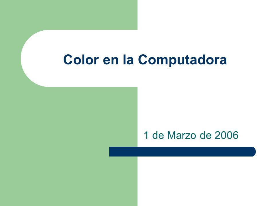 Color en la Computadora