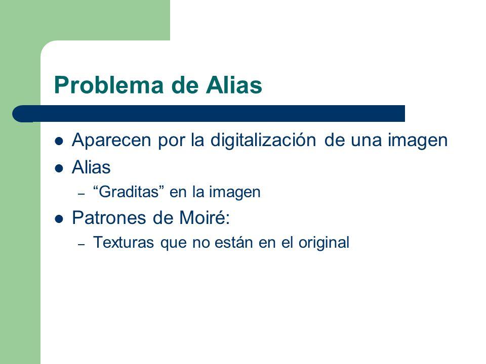 Problema de Alias Aparecen por la digitalización de una imagen Alias