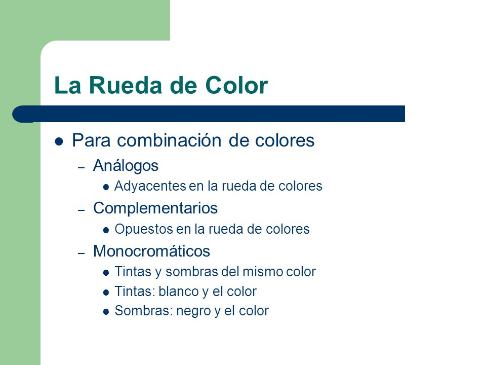 La Rueda de Color Para combinación de colores Análogos Complementarios