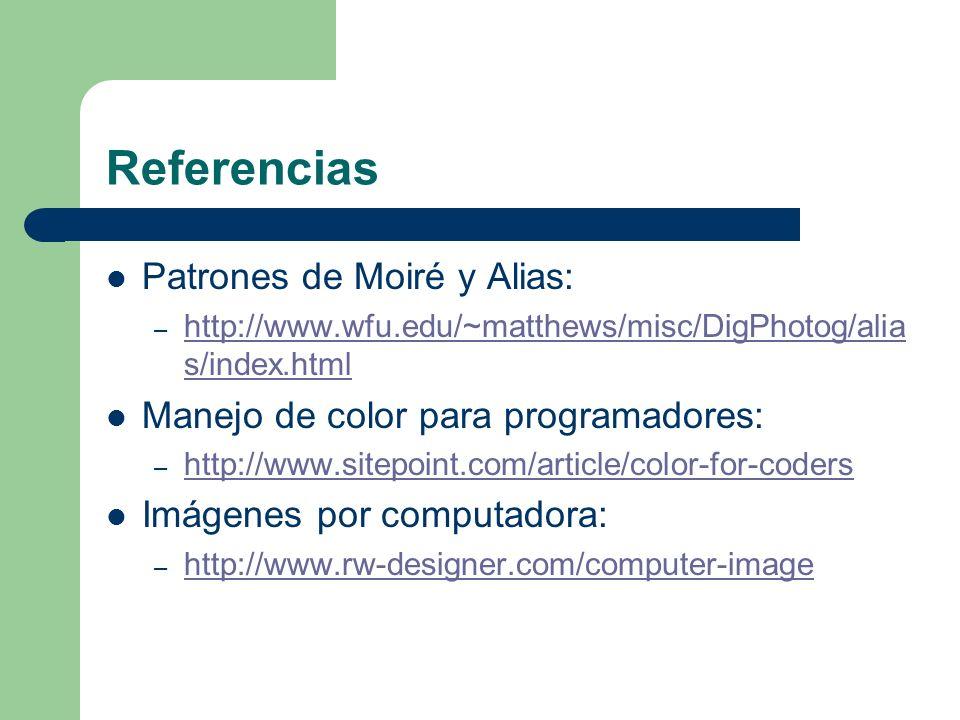 Referencias Patrones de Moiré y Alias: