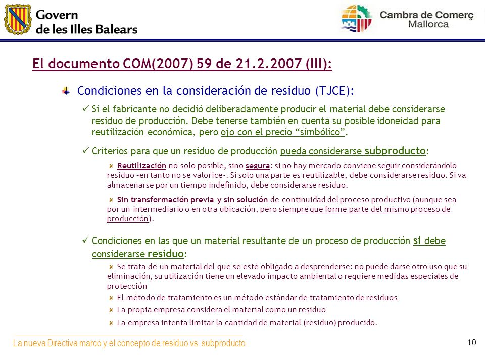 El documento COM(2007) 59 de (III):
