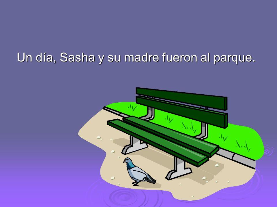 Un día, Sasha y su madre fueron al parque.