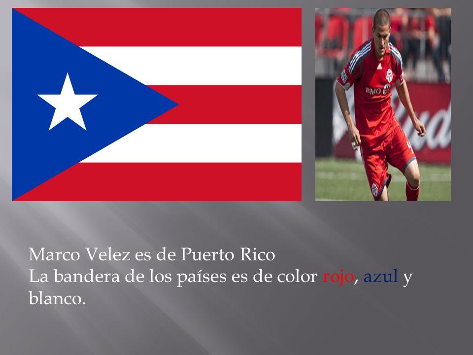 Marco Velez es de Puerto Rico