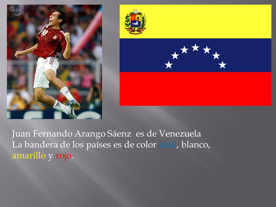 Juan Fernando Arango Sáenz es de Venezuela
