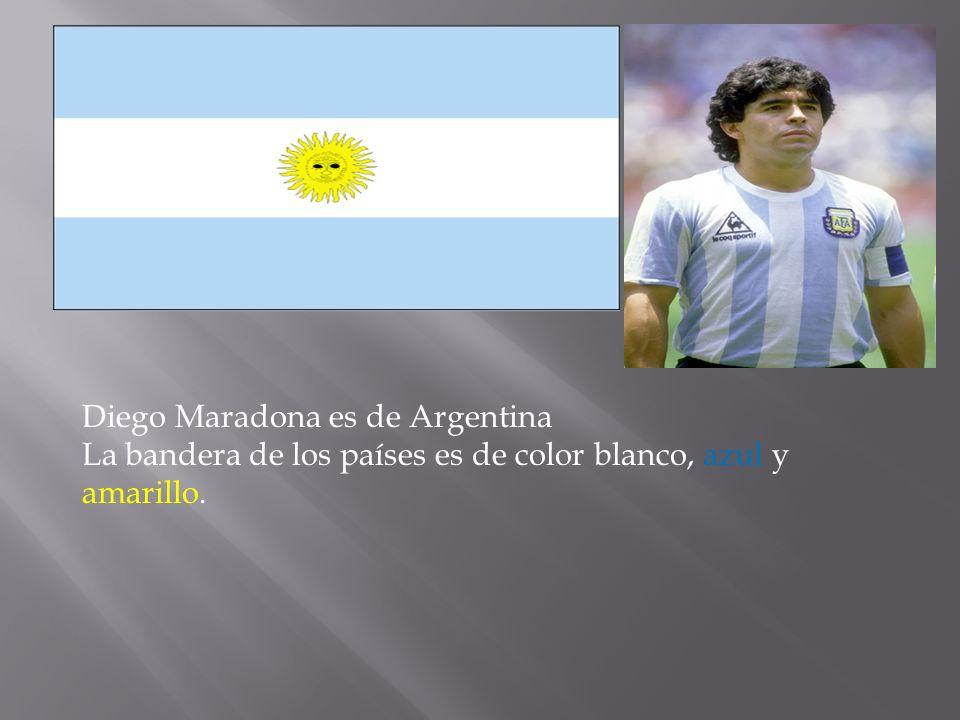 Diego Maradona es de Argentina