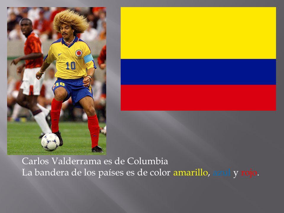 Carlos Valderrama es de Columbia