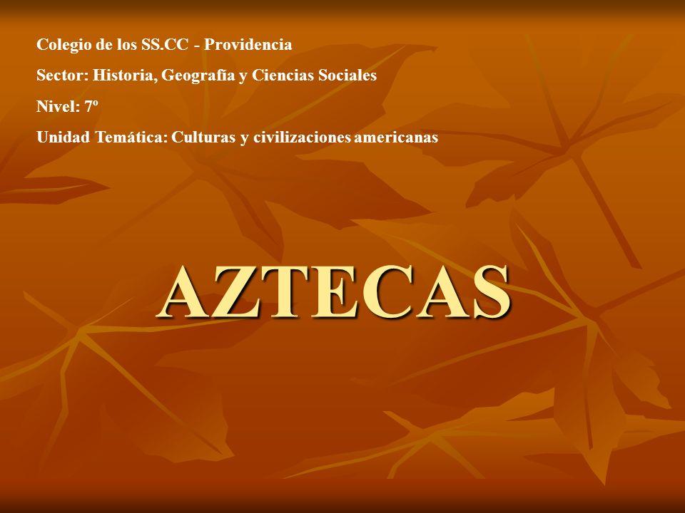 AZTECAS Colegio de los SS.CC - Providencia