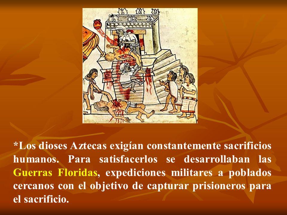 Los dioses Aztecas exigían constantemente sacrificios humanos