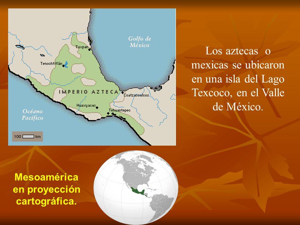 Mesoamérica en proyección cartográfica.