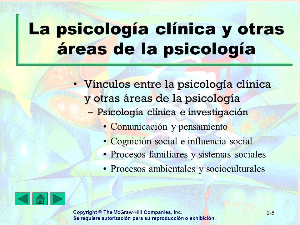 La psicología clínica y otras áreas de la psicología
