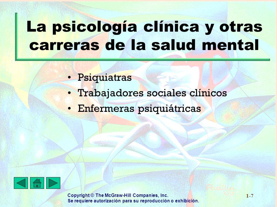 La psicología clínica y otras carreras de la salud mental