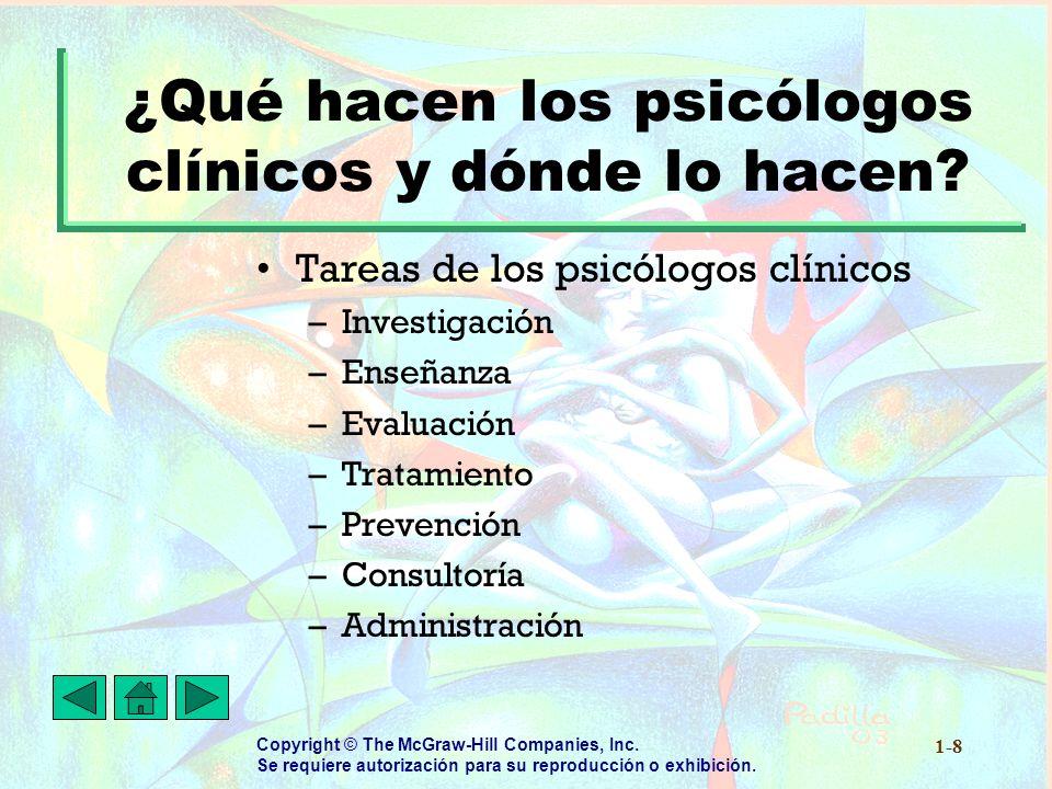 ¿Qué hacen los psicólogos clínicos y dónde lo hacen