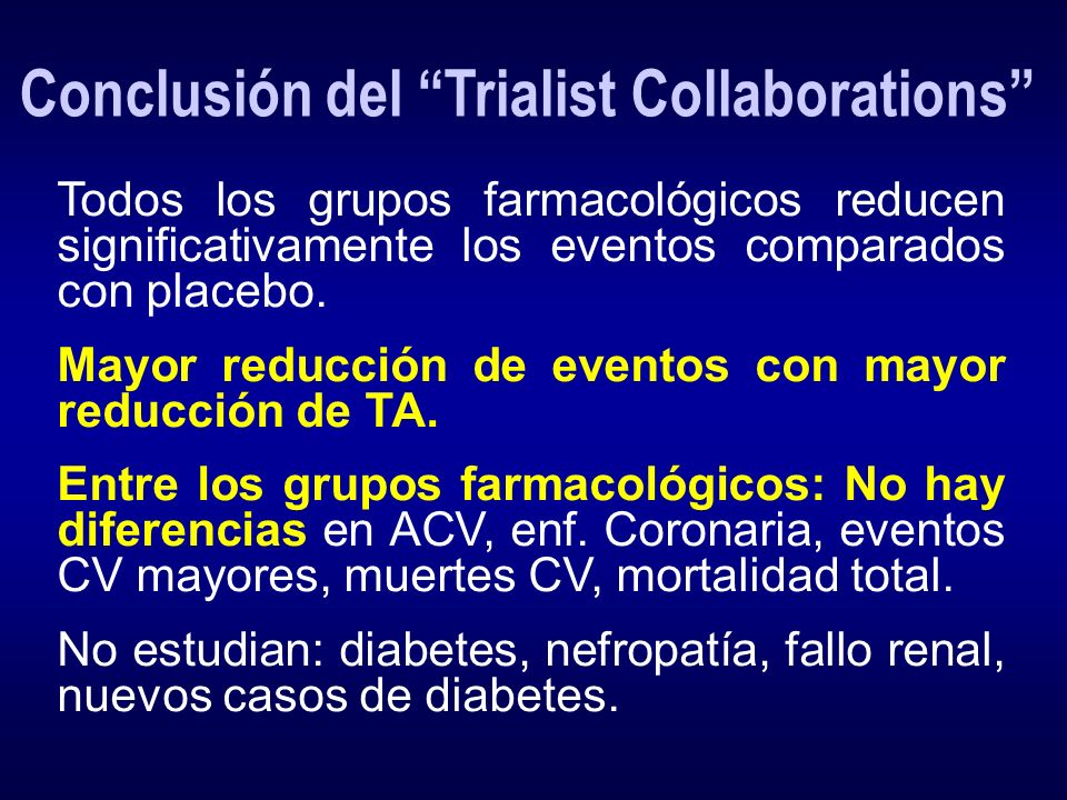 Conclusión del Trialist Collaborations