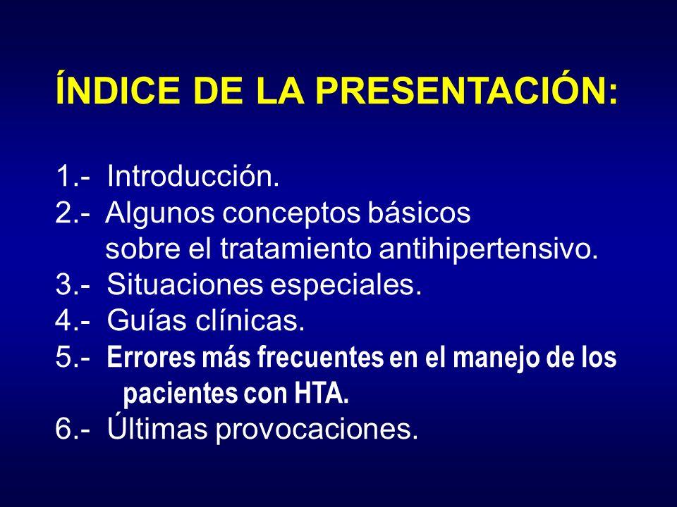 ÍNDICE DE LA PRESENTACIÓN: 1. - Introducción. 2