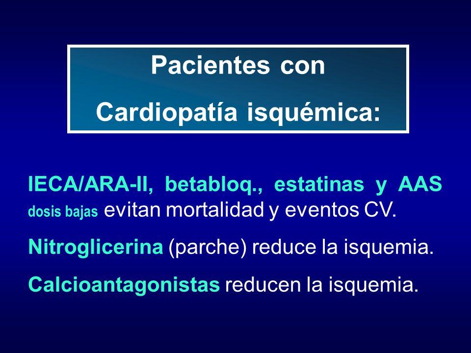 Cardiopatía isquémica: