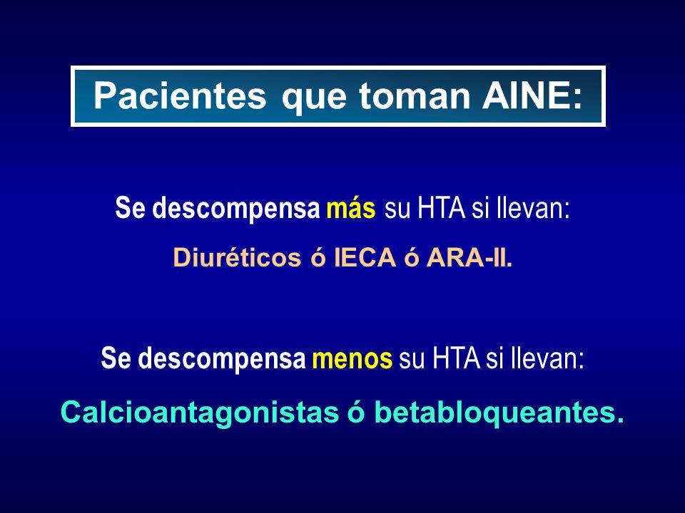 Pacientes que toman AINE: