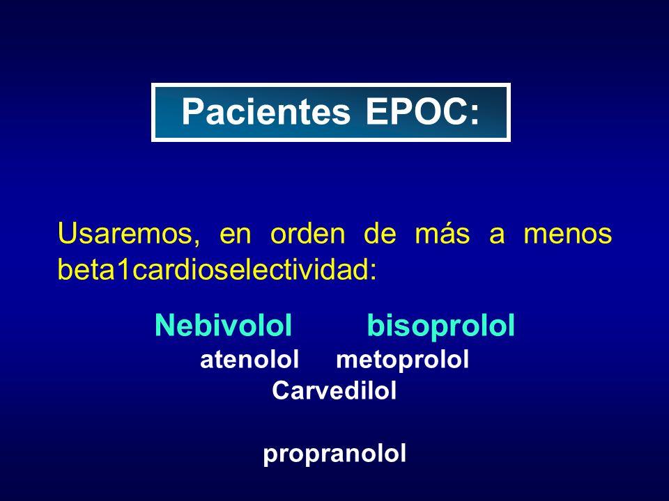 Pacientes EPOC: Nebivolol bisoprolol