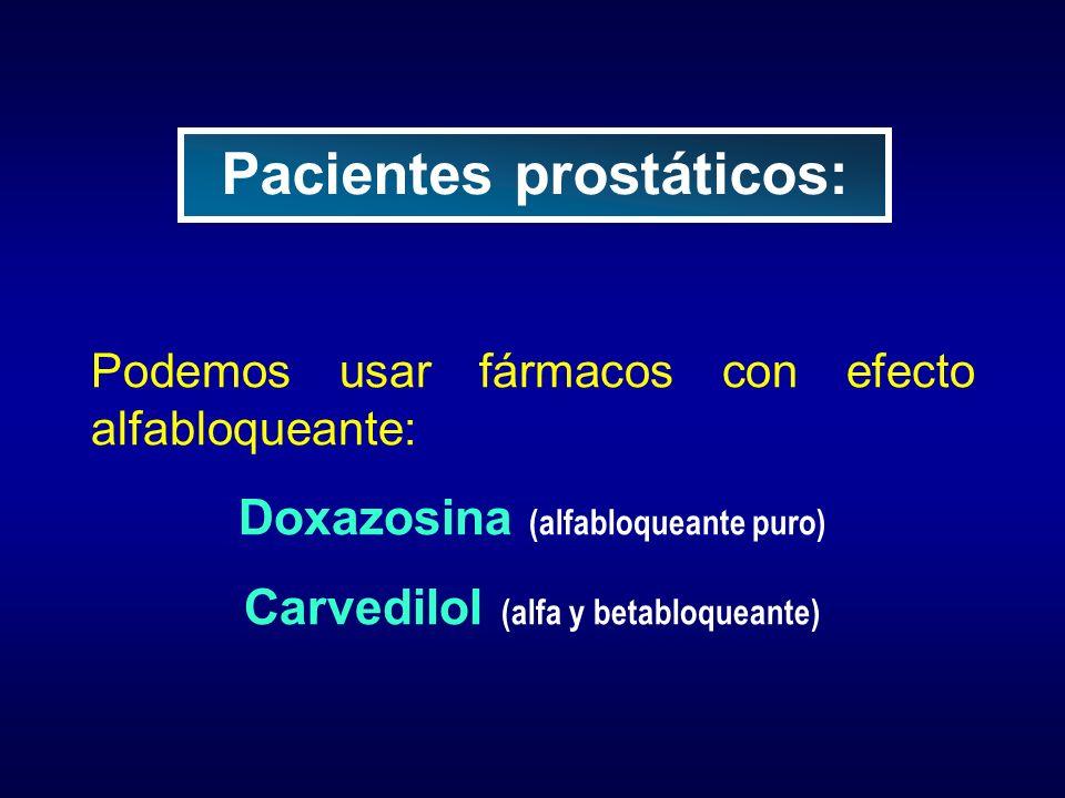 Pacientes prostáticos: