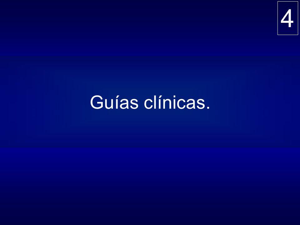 4 Guías clínicas.