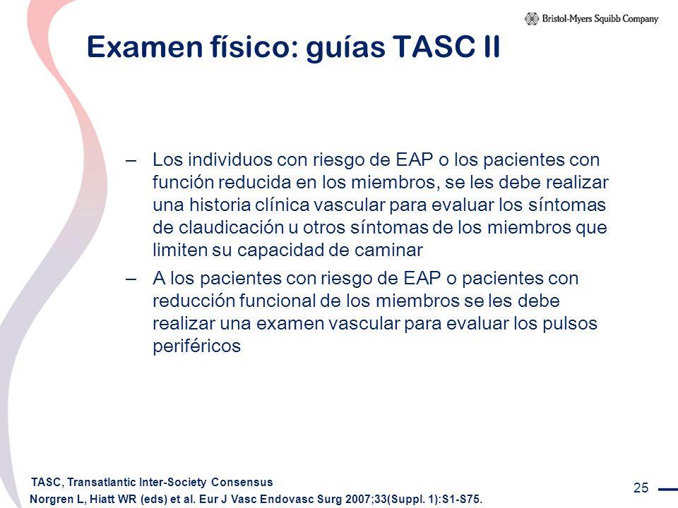 Examen físico: guías TASC II