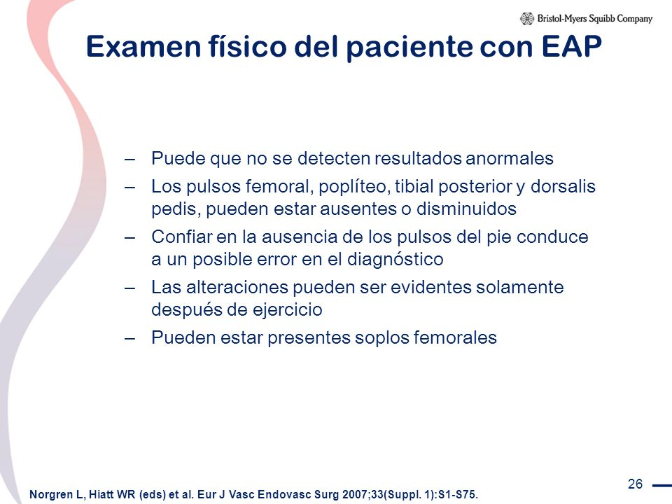 Examen físico del paciente con EAP