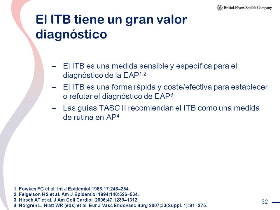 El ITB tiene un gran valor diagnóstico