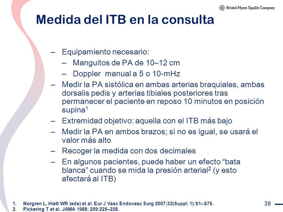 Medida del ITB en la consulta