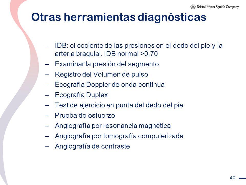 Otras herramientas diagnósticas
