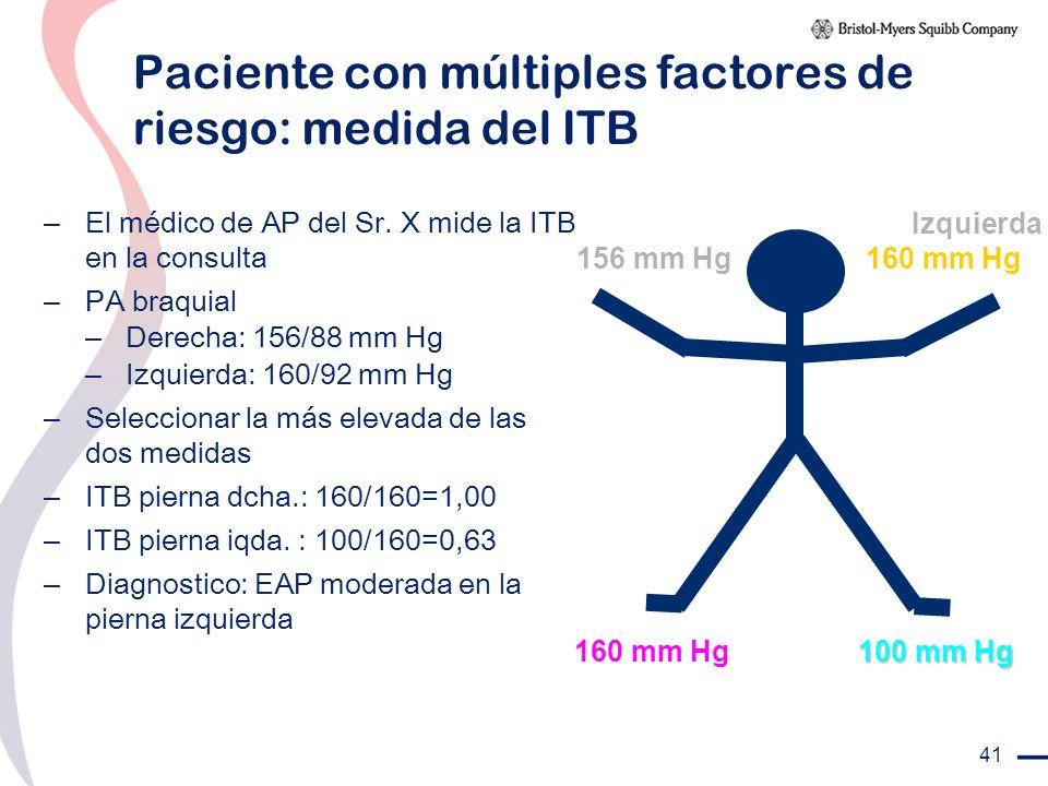 Paciente con múltiples factores de riesgo: medida del ITB