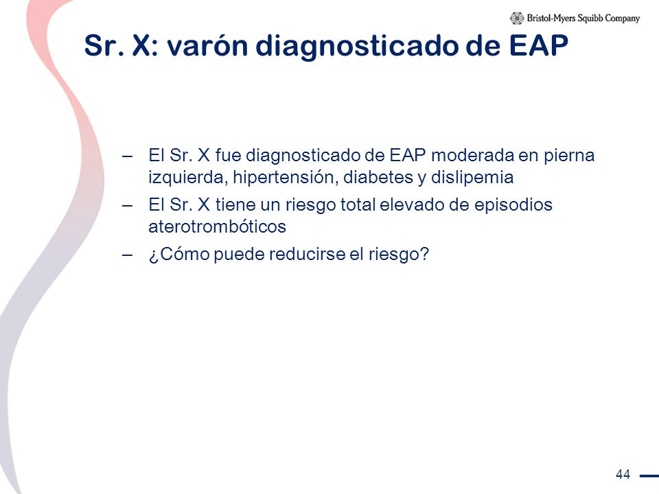 Sr. X: varón diagnosticado de EAP