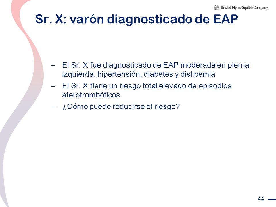 Sr. X: varón diagnosticado de EAP