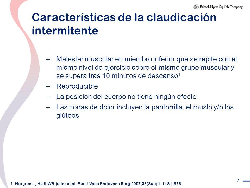 Características de la claudicación intermitente
